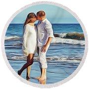 Beach Wedding Round Beach Towel
