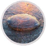 Beached Jellyfish Round Beach Towel