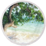 Beachscape Tree Round Beach Towel