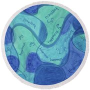 Beachy Three Round Beach Towel