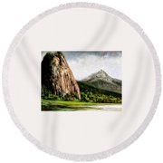 Beacon Rock Washington Round Beach Towel
