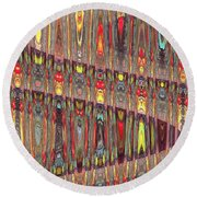 Beaded Curtain Round Beach Towel