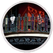 Beads In The French Quarter Round Beach Towel