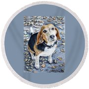 Beagle Nanni Round Beach Towel