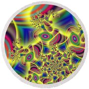 Beaming Round Beach Towel