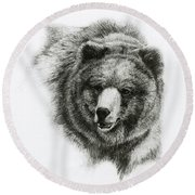 Bear Round Beach Towel