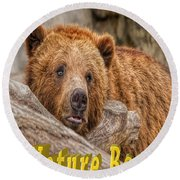Bear Nature Boy Round Beach Towel