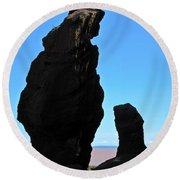 Bear Rock Round Beach Towel