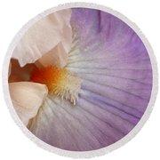 Bearded Iris Round Beach Towel