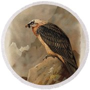 Bearded Vulture By Thorburn Round Beach Towel