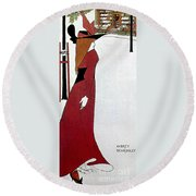 Beardsley: Poster Design Round Beach Towel