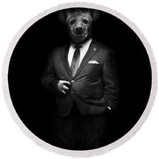 Beast For President Round Beach Towel