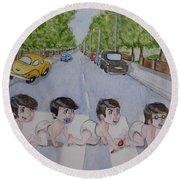 Beatles Abbey Road .... Babies Round Beach Towel