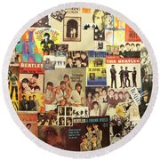 Beatles Collage 1 Round Beach Towel