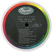 Beatles Revolver Rainbow Lp Label Round Beach Towel