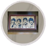 Beatles Sgt Pepper Round Beach Towel