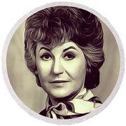 Beatrice Arthur, Vintage Actress Round Beach Towel