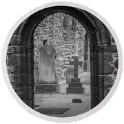Beauly Priory Arch Round Beach Towel
