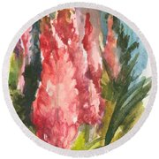 Beauties - Note Card Round Beach Towel
