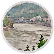 Beautiful Afternoon On The Ganges Round Beach Towel