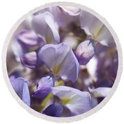Beautiful And Magical Wisteria  Round Beach Towel