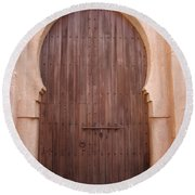 Beautiful Arched Doors Round Beach Towel