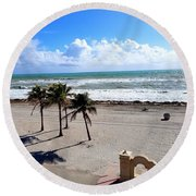 Beautiful Atlantic  Round Beach Towel