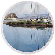 Beautiful Bay Round Beach Towel
