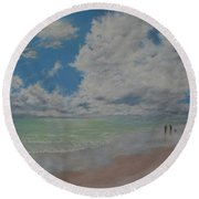 Beautiful Beach Day Round Beach Towel