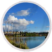 Beautiful Bend Round Beach Towel