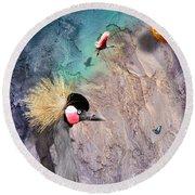 Beautiful Birds Round Beach Towel