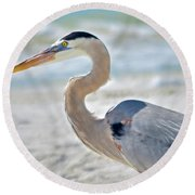Beautiful Blue On The Beach Round Beach Towel
