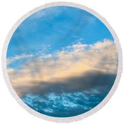 Beautiful Blue Skies Round Beach Towel