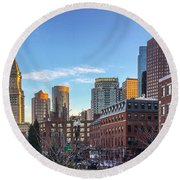 Beautiful Boston Round Beach Towel