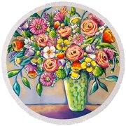 Beautiful Bouquet Round Beach Towel
