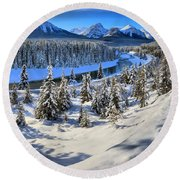 Beautiful Bow Valley Round Beach Towel