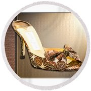 Beautiful Brocade Slippers For A Ball Round Beach Towel