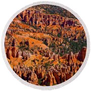 Beautiful Bryce Canyon Round Beach Towel