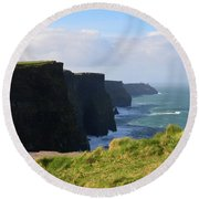 Beautiful Cliff's Of Moher In Liscannor Ireland Round Beach Towel