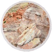 Beautiful Color In Wash 3 Of Valley Of Fire Round Beach Towel