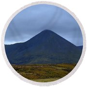 Beautiful Countryside In Cuillen Hills With A Large Mountain  Round Beach Towel