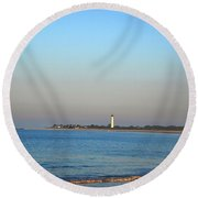 Beautiful Day In Cape May Round Beach Towel