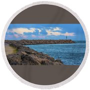 Beautiful Day Out Round Beach Towel