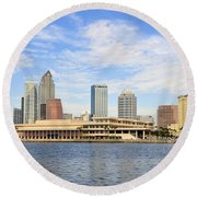 Beautiful Day Tampa Bay Round Beach Towel