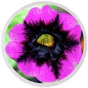 Beautiful Flower Round Beach Towel by Annette Allman