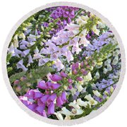 Beautiful Foxglove Round Beach Towel