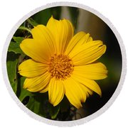 Beautiful In Yellow Round Beach Towel