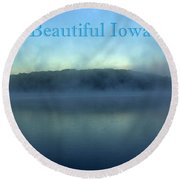Beautiful Iowa Round Beach Towel