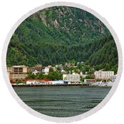 Beautiful Juneau Alaska Round Beach Towel
