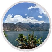 Beautiful Lake Atitlan Round Beach Towel